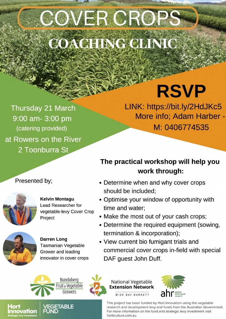 Cover Crops Coaching Clinic - getting cover crops working on your farm, QLD