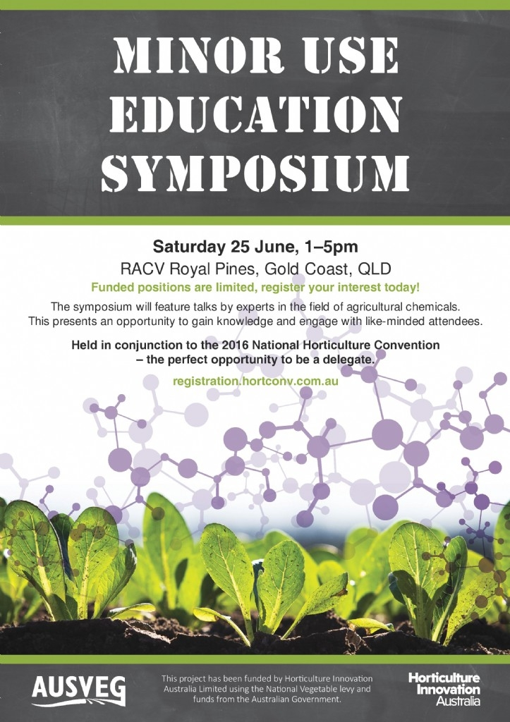Minor Use Education Symposium QLD