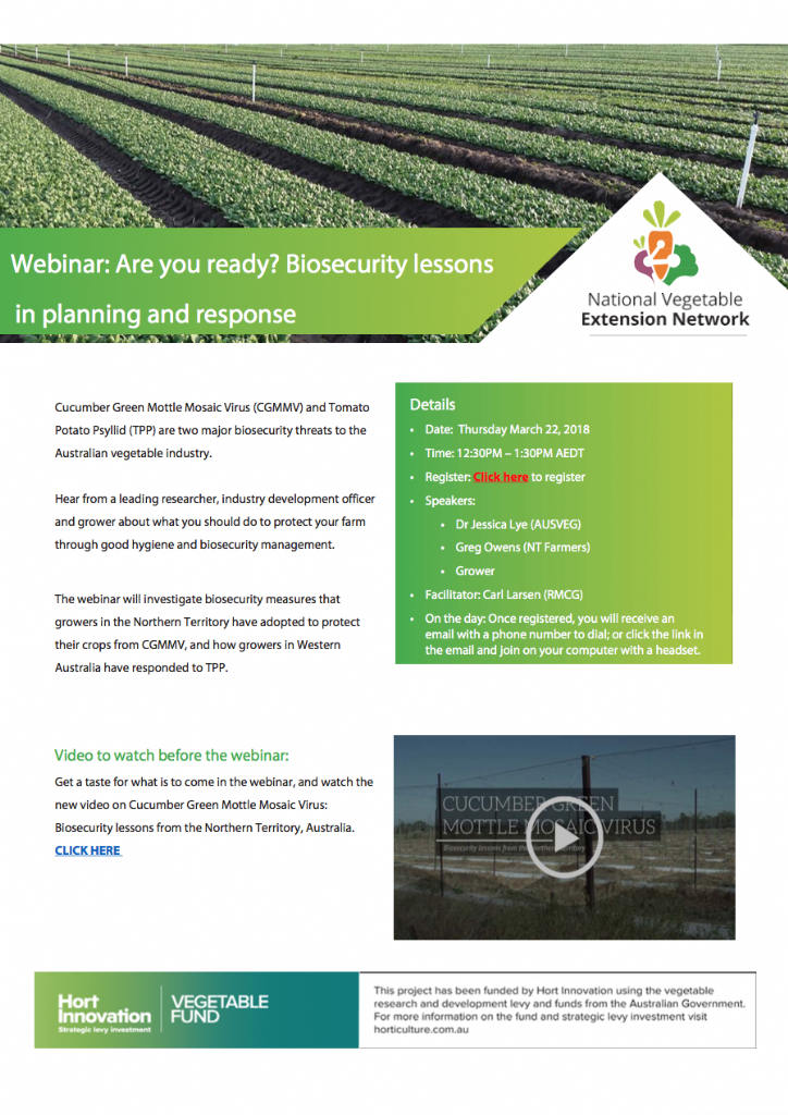 Webinar: Are you ready? Biosecurity lessons in planning and response