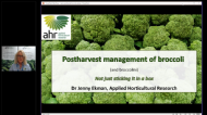 Postharvest management of broccoli