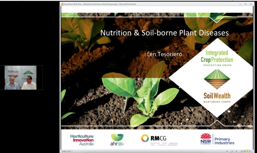 Nutrition management and plant disease with Dr Len Tesoriero (webinar recording)