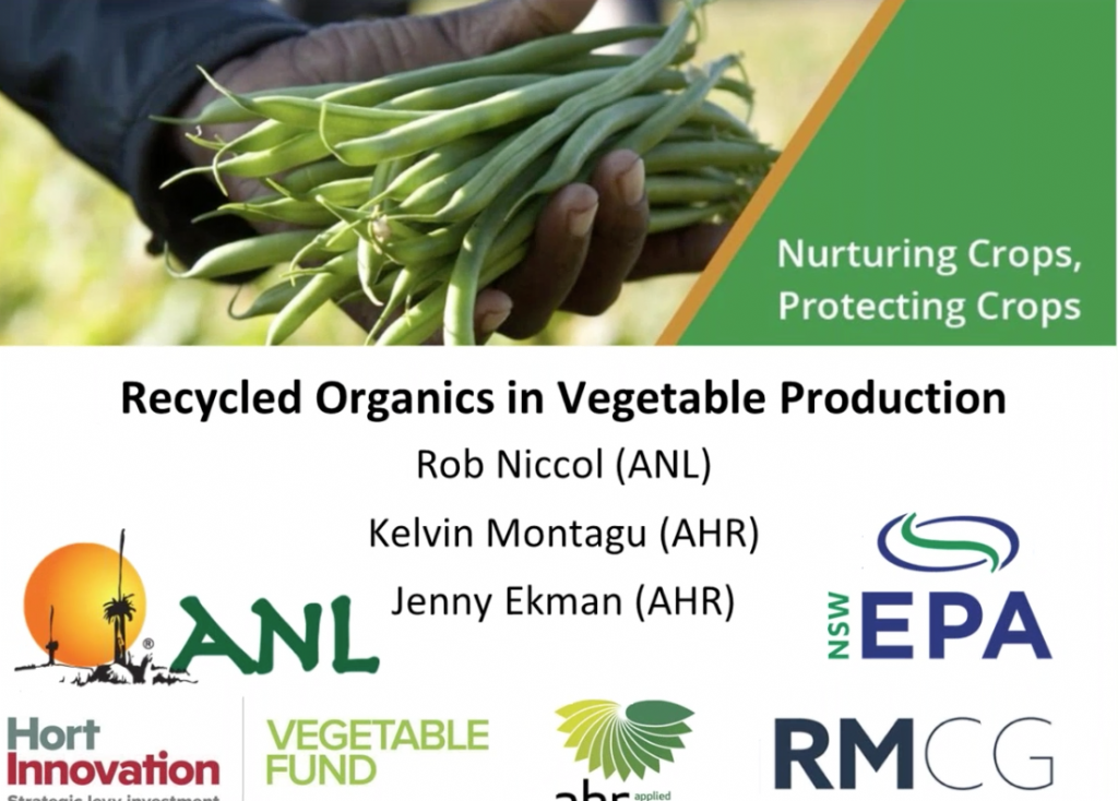 Recycled Organics (Compost) in Vegetable Production