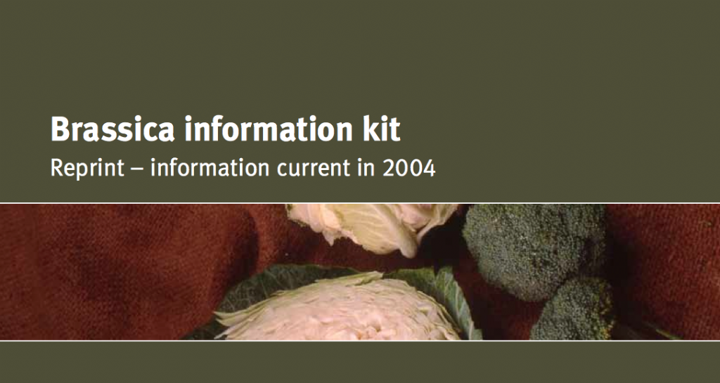 Brassica Information Kit. Agrilink, your growing guide to better farming guide