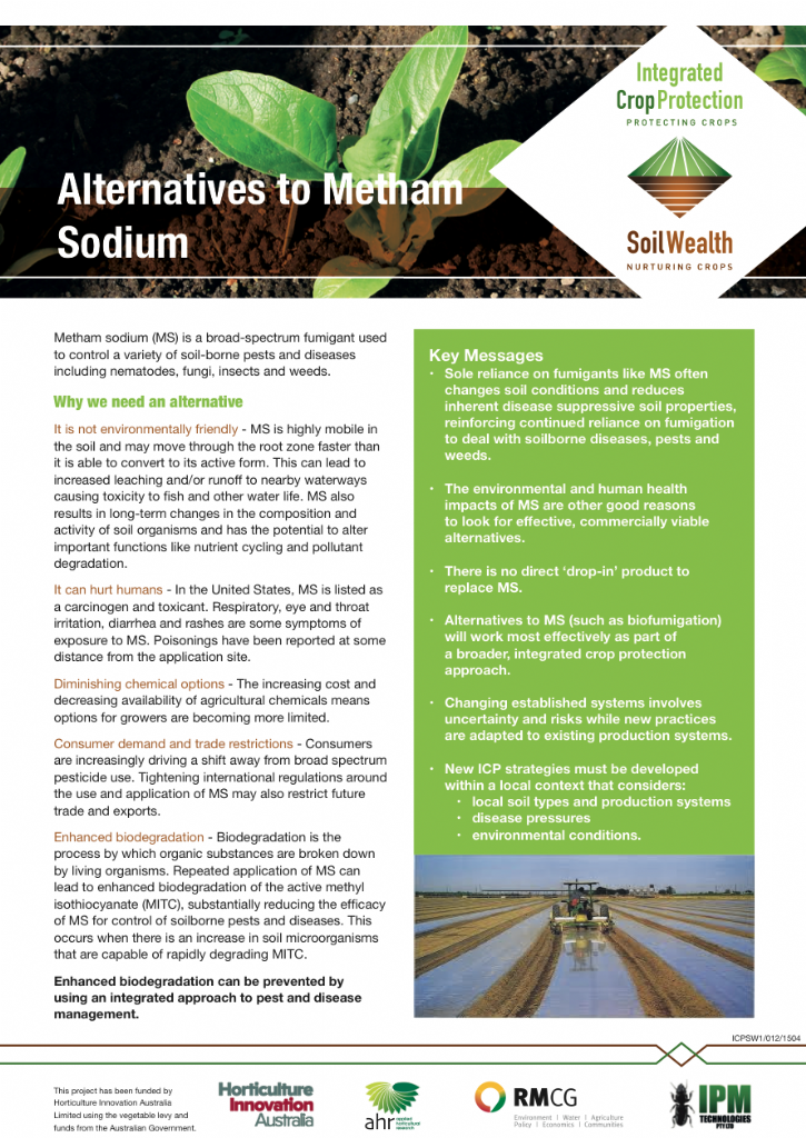 Alternatives to Metham Sodium