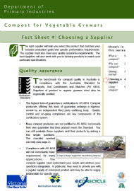 Compost for Vegetable Growers: Choosing a Supplier
