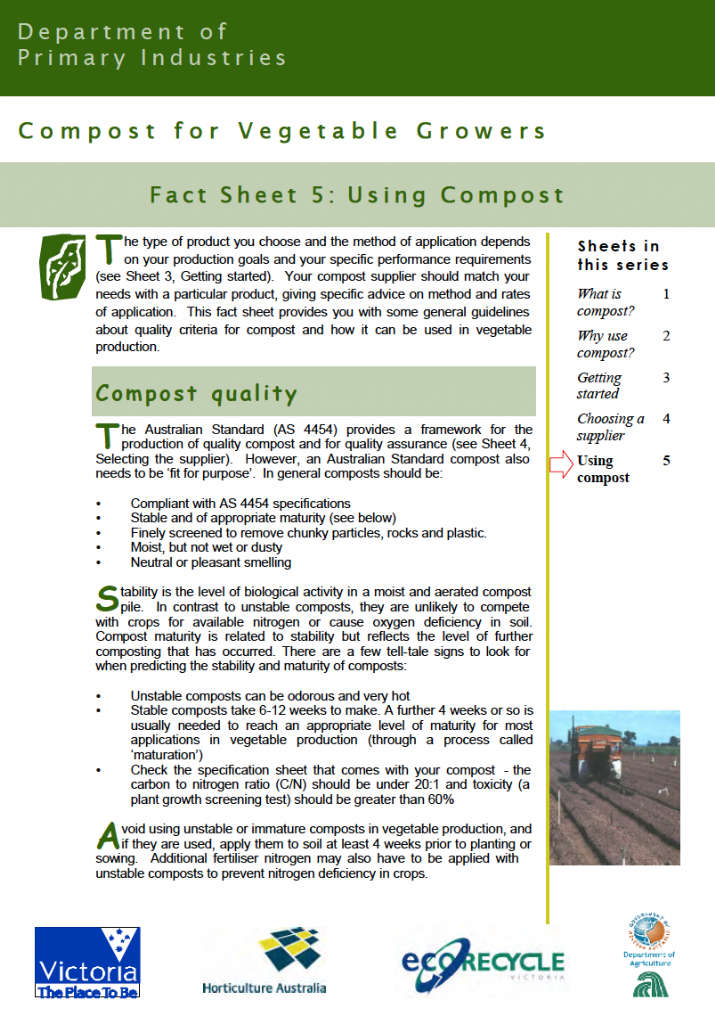 Compost for Vegetable Growers: Using Compost