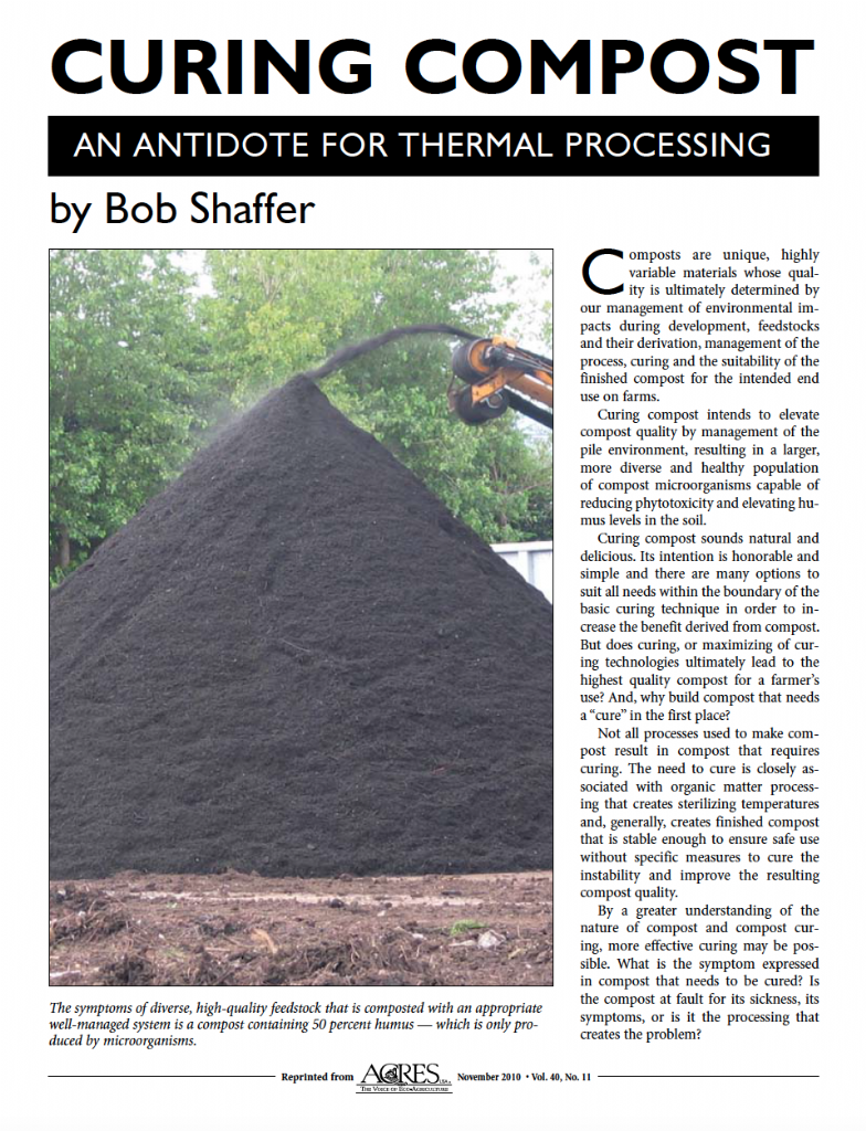 Curing Compost: An antidote for thermal processing