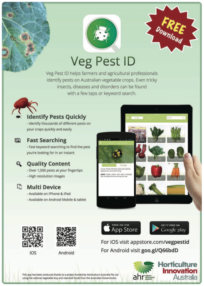 Pest and disease identifier App: Veg Pest ID