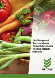 Best Management Practices to Reduce Nitrous Oxide Emissions for Annual Vegetable Production