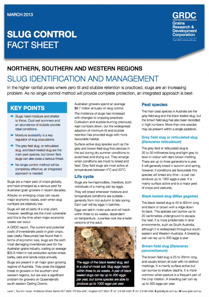 Slug control using Integrated Pest Management