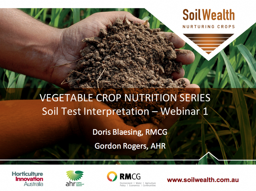 Soil Testing for Vegetable Crops with Doris Blaesing and Gordon Rogers (webinar recording)