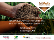 Soil Testing for Vegetable Crops with Doris Blaesing and Gordon Rogers