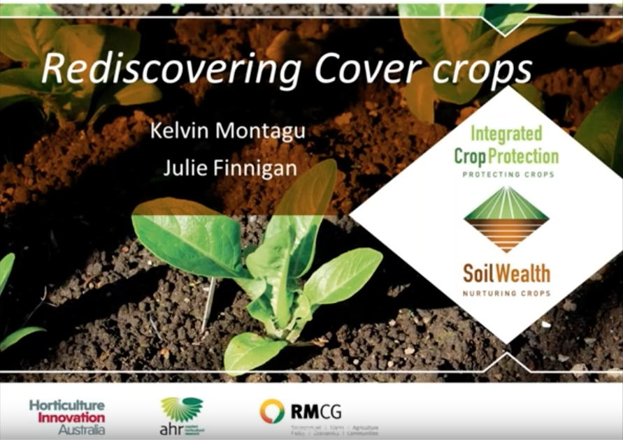 Rediscovering cover crops with Kelvin Montagu (webinar recording)