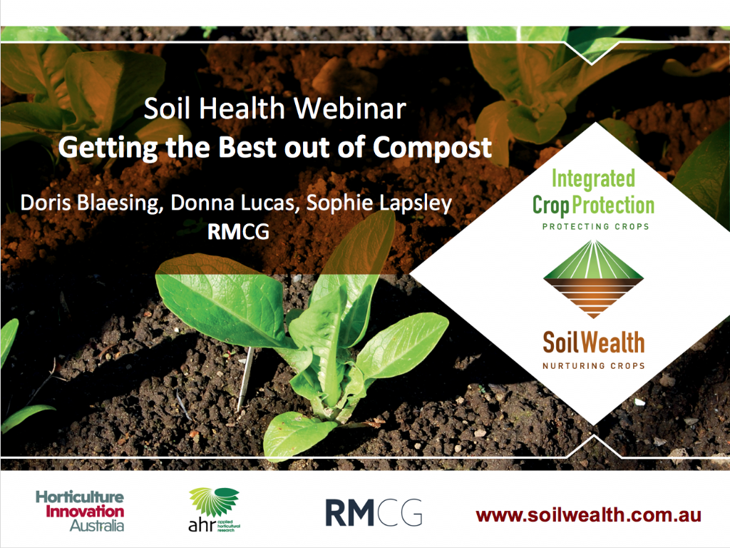 Using compost in commercial vegetable production with Dr Doris Blaesing (webinar recording)