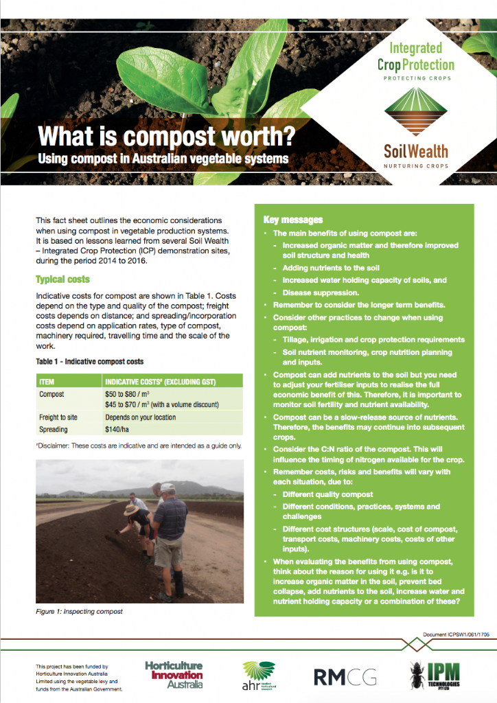 What is compost worth? Using compost in Australian vegetable systems