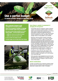 Use a partial budget to assess practice change on vegetable farms