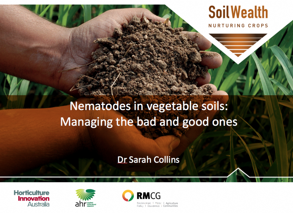 Nematodes in vegetable soils - managing the bad and good ones with Dr Sarah Collins (webinar recording)