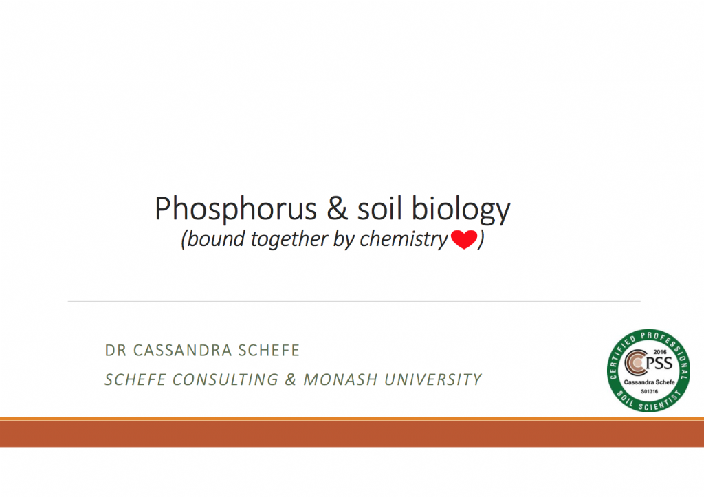 Phosphorus and soil biology - common questions answered