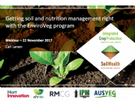 Getting soil and nutrition management right with the EnviroVeg program