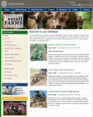 Reduced tillage webinar recordings from Cornell Small Farms Program, US