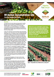 Mt Barker Demonstration Site: Practice Change Case Study