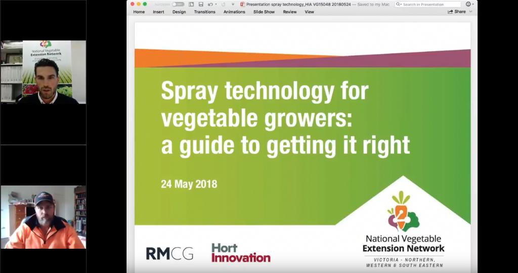 Spray technology for vegetable growers: a guide to getting it right (webinar recording)