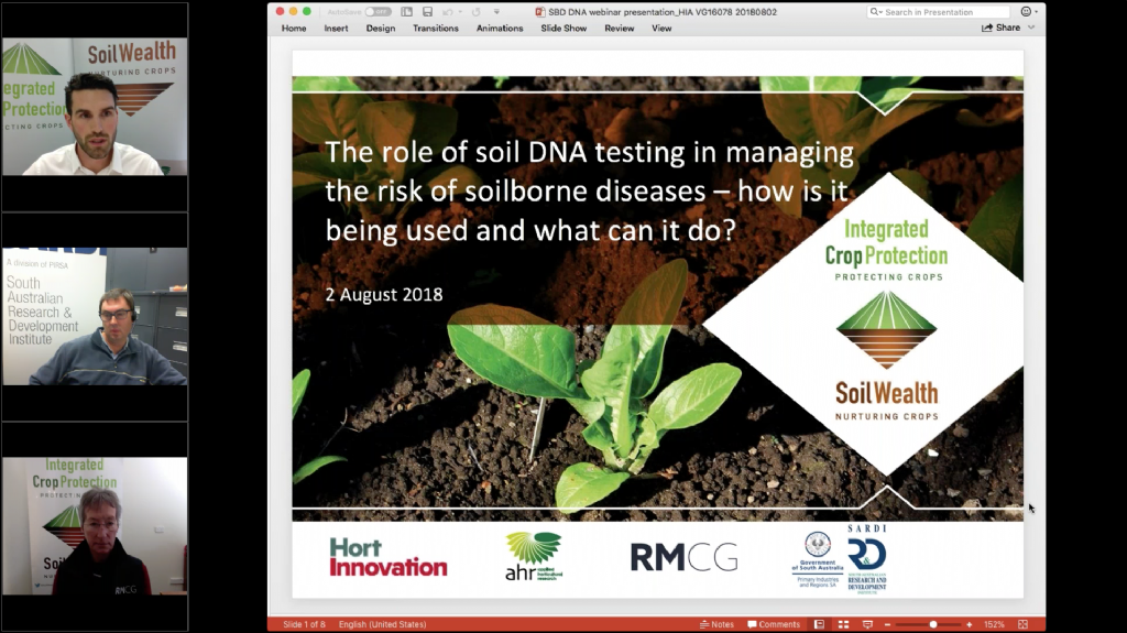 The role of soil DNA testing in managing the risk of soilborne diseases – how is it being used and what can it do? (webinar recording)