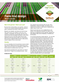 Farm trial design: what to consider