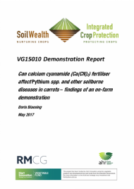 Can calcium cyanamide (Ca(CN)2) fertiliser affect Pythium spp. and other soilborne diseases in carrots – findings of an on-farm demonstration