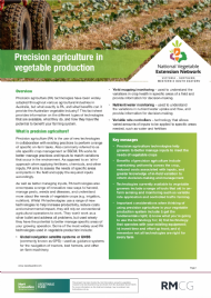 Precision agriculture in vegetable production