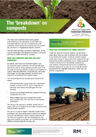 The 'breakdown' on composts