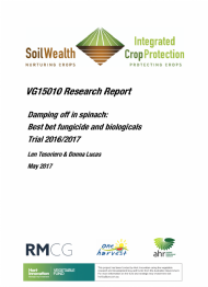 Damping off in spinach: Best bet fungicide and biologicals Trial 2016/2017