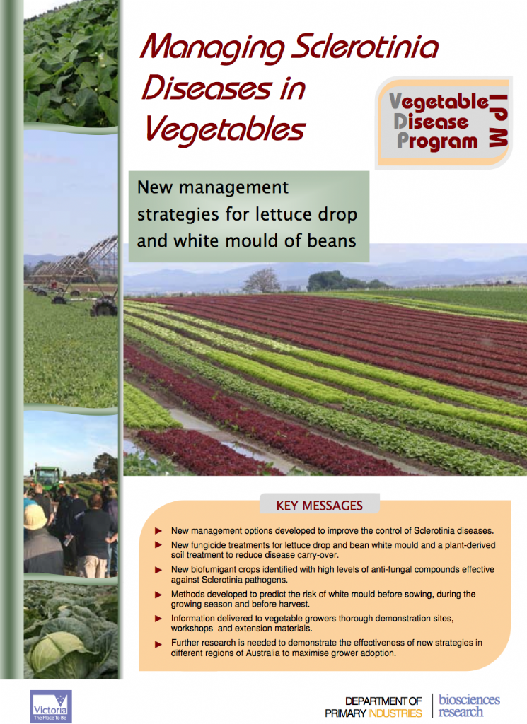 Managing Sclerotinia Diseases in Vegetables