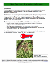 Best Practice for Vegetables - Sclerotinia in Lettuce
