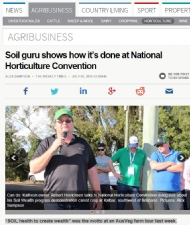 Soil guru shows how it's done at National Horticulture Convention